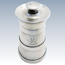 Rare VICTORIAN (1889) ANTIQUE Solid Sterling Silver English Pepper Mill/Grinder. Birmingham Hallmarked.