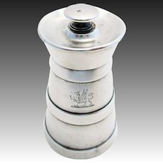 Rare VICTORIAN (1889) ANTIQUE Solid Sterling Silver English Pepper Mill/Grinder. Birmingham Hallmarked