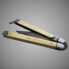Rare ANTIQUE (c1880) Bonsa-Werk Bontgen & Sabin PATENT Carbon Steel Folding Knife Fruit Penknife Germany