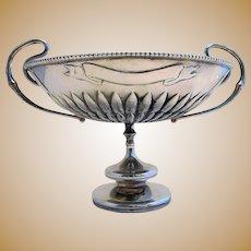 Impressive Hamilton & Co. (1890) Indian Colonial Solid Silver Antique Arts & Crafts Tazza Dish Footed Bowl Cup. Calcutta, India.