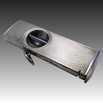 Good Quality Vintage (1961) Solid Sterling Silver Hallmarked Cigar Cigarette Cutter. Mid 20th-Century.