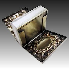 Antique (1893) Sterling Silver Double Stamp Case Box, Whiting Manufacturing Mfg Co. 4236, Late 19th-Century.