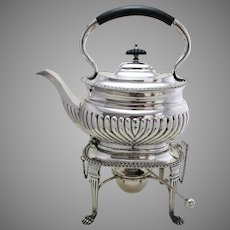 Top Quality Antique Victorian (c.1880) Silver Plated English SPIRIT KETTLE, Tea Pot & Stand.