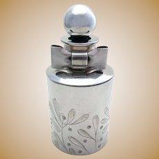 Very Rare Penhaligon's VINTAGE 1998 Solid Sterling Silver Perfume Scent Bottle, Hallmarked.