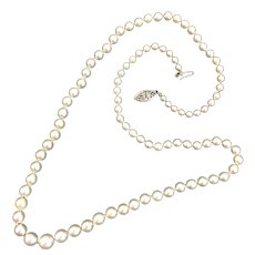 """20"""" Strand of Graduated Cultured Pearls with 14K Gold Clasp"""