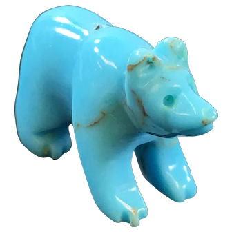 Southwest Carved Turquoise Bear
