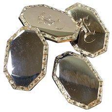 Art Deco 10K Gold Cufflinks