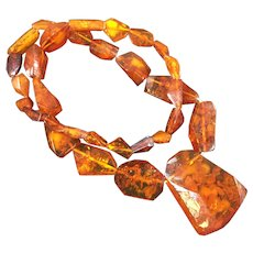Vintage Hand Crafted Amber Necklace