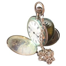 Vintage American Waltham Watch Co Size 18 Coin Silver Hunter Case Pocket Watch