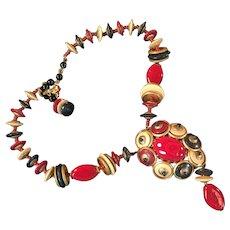 Vintage Miriam Haskell Designer Necklace