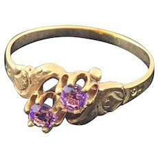Victorian 10K Gold and Amethyst Ring SALE