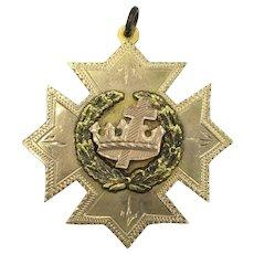 Vintage 10K Gold 1922 Graduation Medal 11 Grams