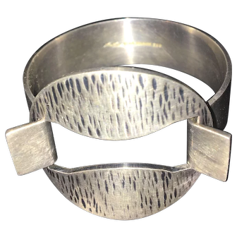 Modernist Vintage Danish Silver HANS HANSEN Bent Gabrielsen Cuff Bracelet