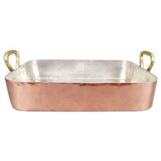 Antique Copper Roasting Pan
