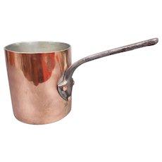 J.JACQUOTOT Antique Copper Bain Marie Pot
