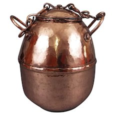 17th C Antique Bee Keepers Copper Honey Pot
