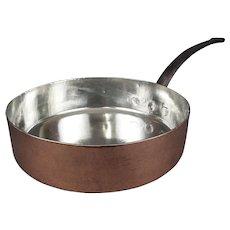 Professional Grade Copper Saute Pan