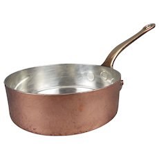 "Leon Jaeggi & Sons Ltd 7"" Copper Saute Pan Saucepan"