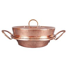 19thC Antique Copper Tourtiere Pan