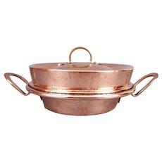 19thC Antique Copper Tourtiere Pan