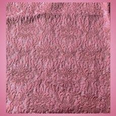 Vintage pink brocade