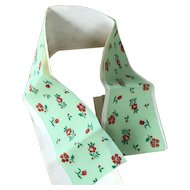1950's Green printed ribbon