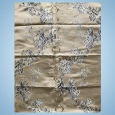 Soft gold silk brocade c1890