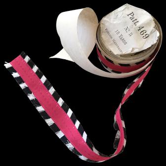 Unusual silk ribbon fringing 1880