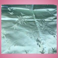 Gorgeous silk satin brocade teal / turquoise