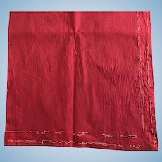 Red 1910 cotton fabric