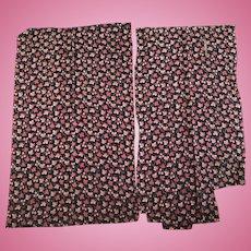 2 Good remnants 19th c fabric