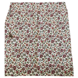 Printed cotton fabric -Berlin wool work 19thc