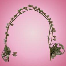 Antique Wax flower buds garland bridal head dress