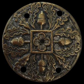 6 Pressed brass discs for appliqué decoration