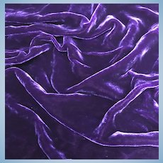 Purple soft silk velvet