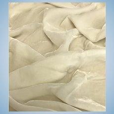 Ivory white silk velvet
