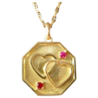 Vintage French Charm Pendant / Love Token, The 50s