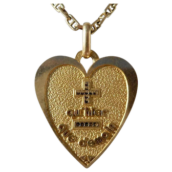 Vintage French Charm Pendant / Love Token, Qu'hier Que Demain, Signed A.Augis, The 30s