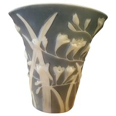Phoenix Freesia Fan Vase C. 1940