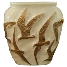 Consolidated Glass Sea Gull Vase