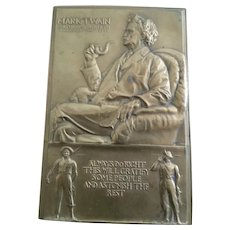 1935 Mark Twain Society of Medalist Bronze Plaque