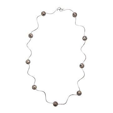 Elizabeth Garvin Modernist Silver Necklace