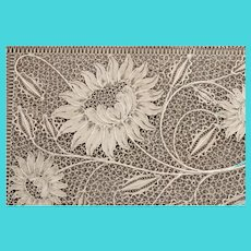 Sterling Silver Floral Filigree Card Case