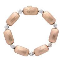 Rose Gold and Diamond Nugget Bracelet