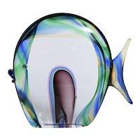 Murano Glass Fish Signed Luigi Mellara