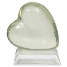 Lucite Heart Sculpture by Shlomi Haziza