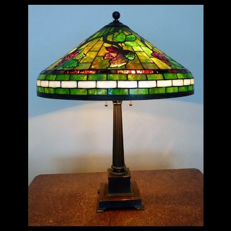Antique Stained Glass Table Lamp