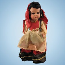 1953 Sorrento Celluloid Doll in Traditional Dress * 13""