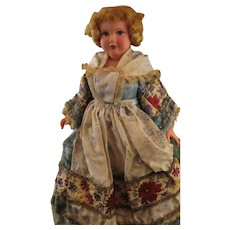 Early French Petitcollin Celluloid Jointed Costume Doll * Circa 1920s - Red Tag Sale Item
