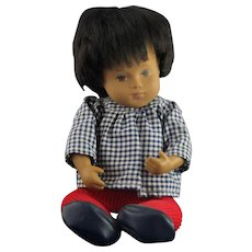 Beautiful Sasha Jointed Boy Doll w/ Red Tights & Gingham Shirt